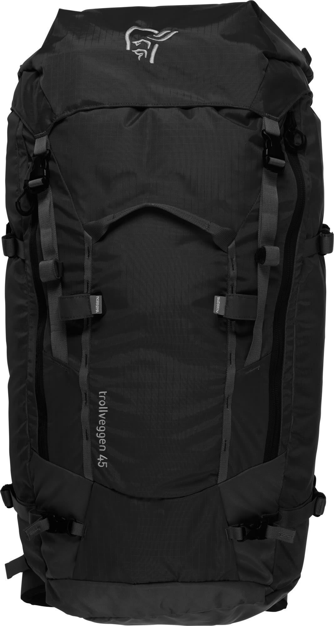 Norrona Trollveggen 45L Pack Schwarz, Male Alpin-& Trekkingrucksack, 45l