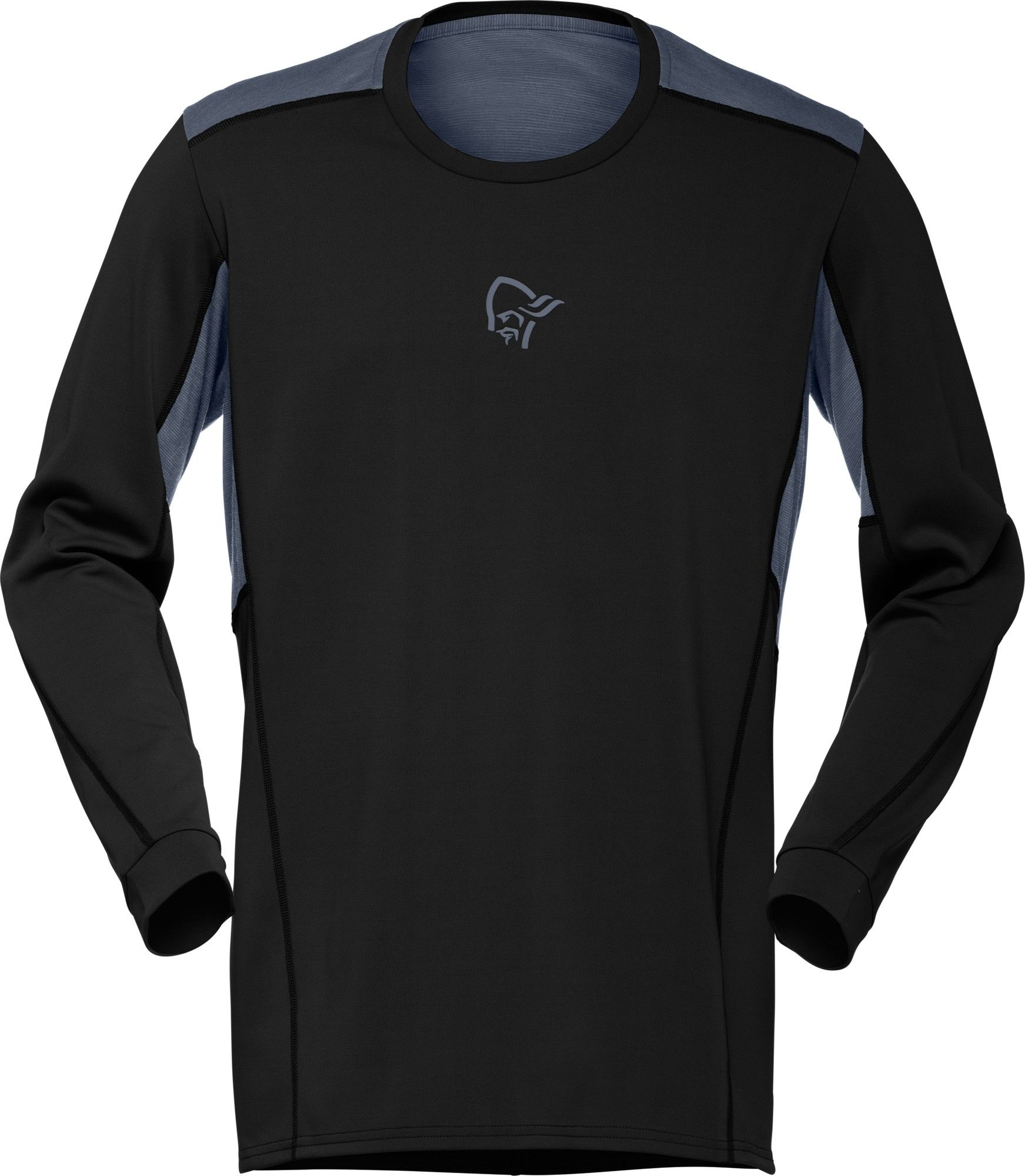 Norrona Falketind Super Wool Shirt Schwarz, Male Merino Langarm-Shirt, L