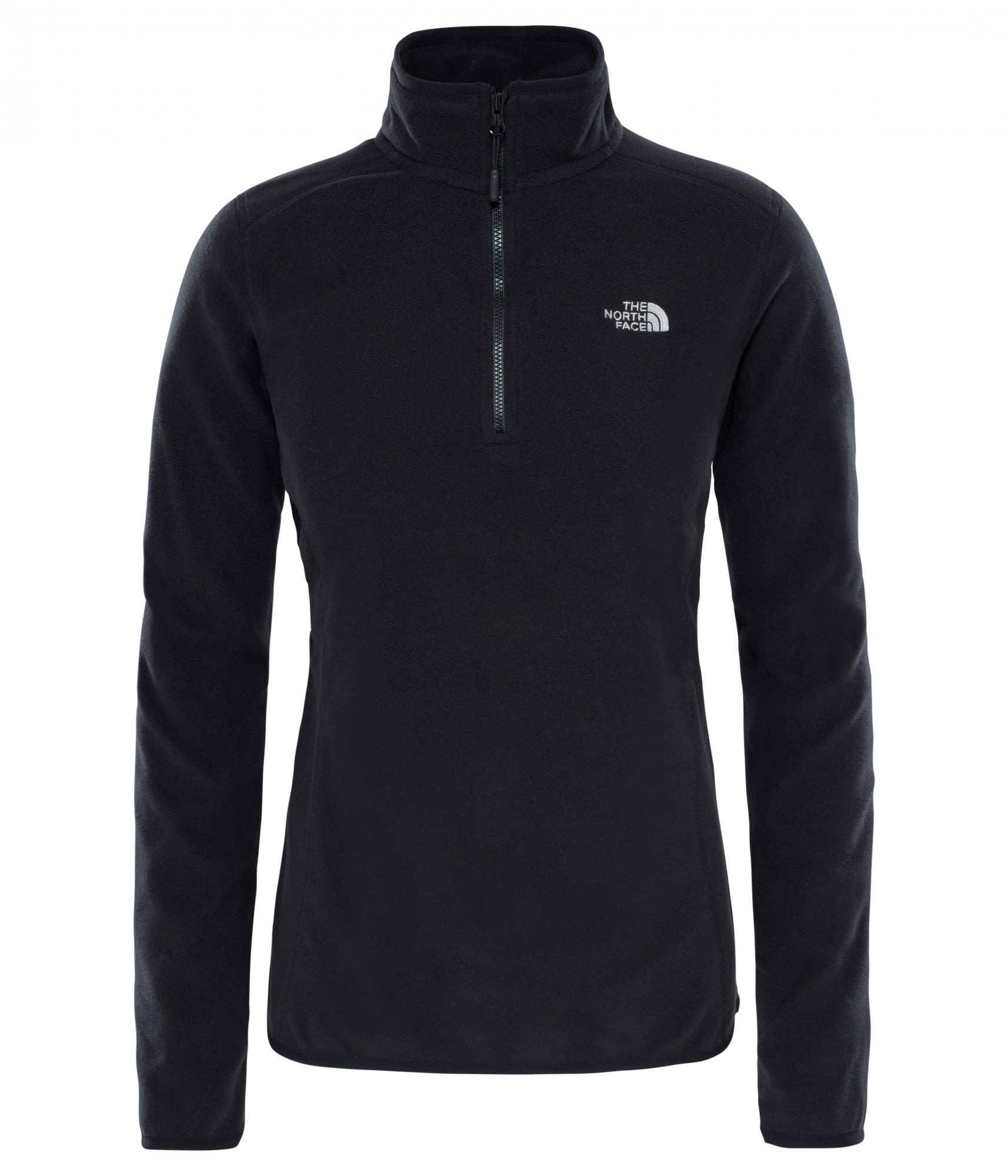 The North Face 100 Glacier 1/4 Zip Schwarz, Female Polartec® Freizeitpullover,