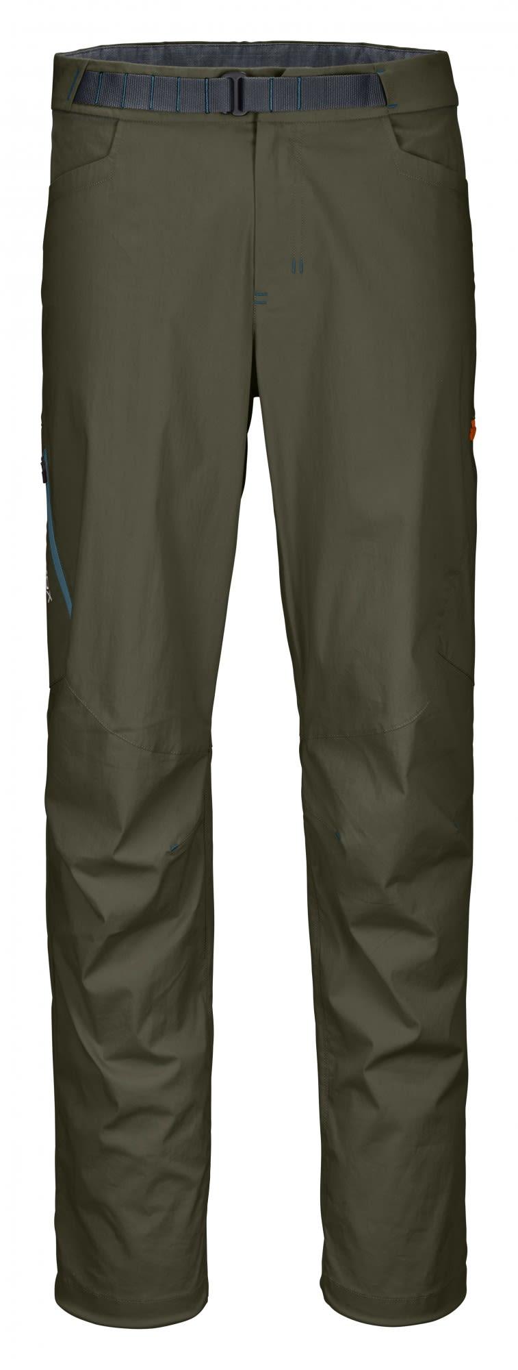 Ortovox Merino Shield Canvas Light Colodri Pants Oliv, Male Merino Hose, XL