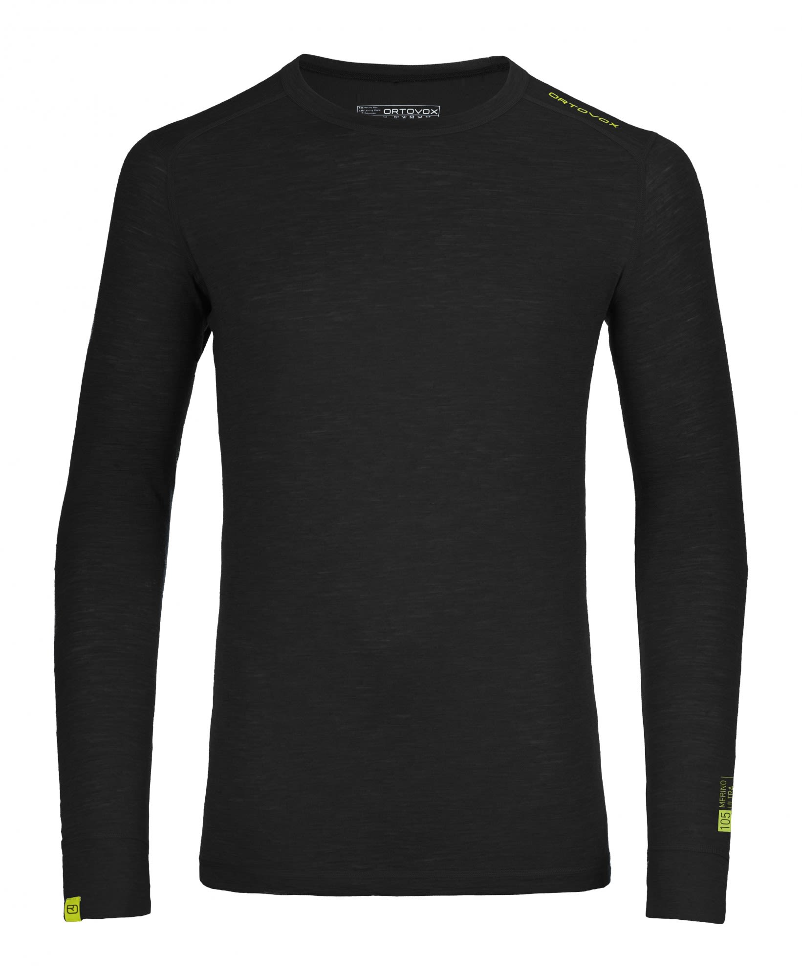 Ortovox 105 Merino Ultra Long Sleeve Schwarz, Male Merino Oberteil, XL