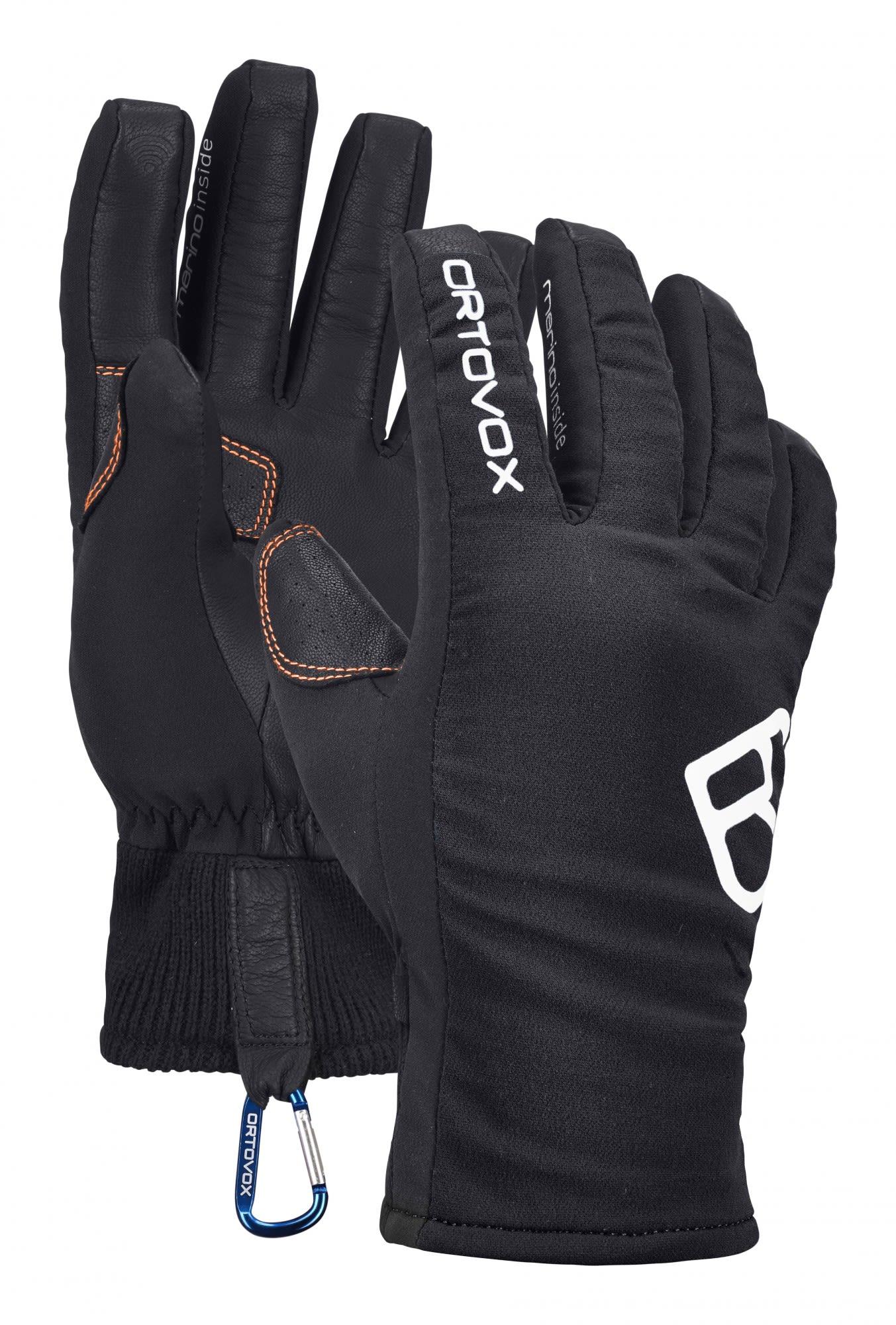 Ortovox Tour Glove Schwarz, Male Merino Accessoires, S