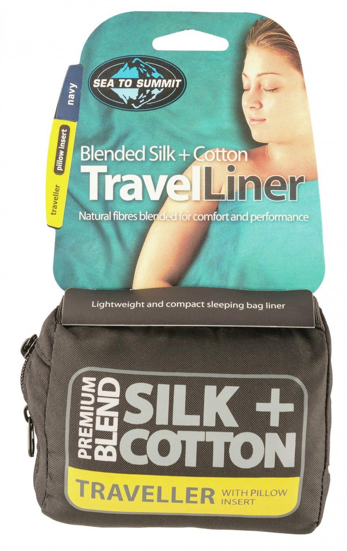 Sea to Summit Silk/Cotton Travel Liner Traveller | Größe 225 cm |  Innenschlaf