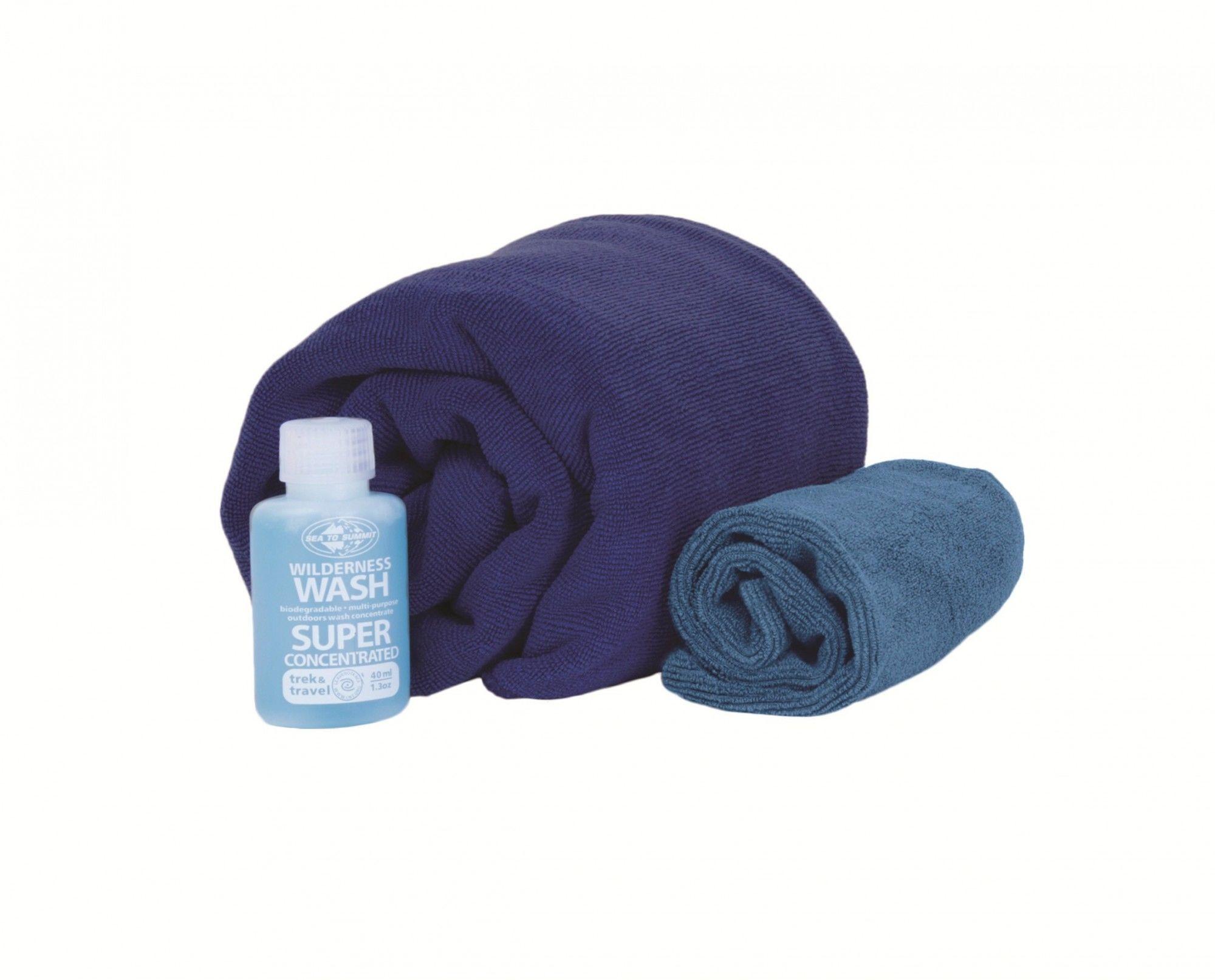 Sea to Summit TEK Towel Wash KIt XL Blau, Sonstige Taschen, One Size