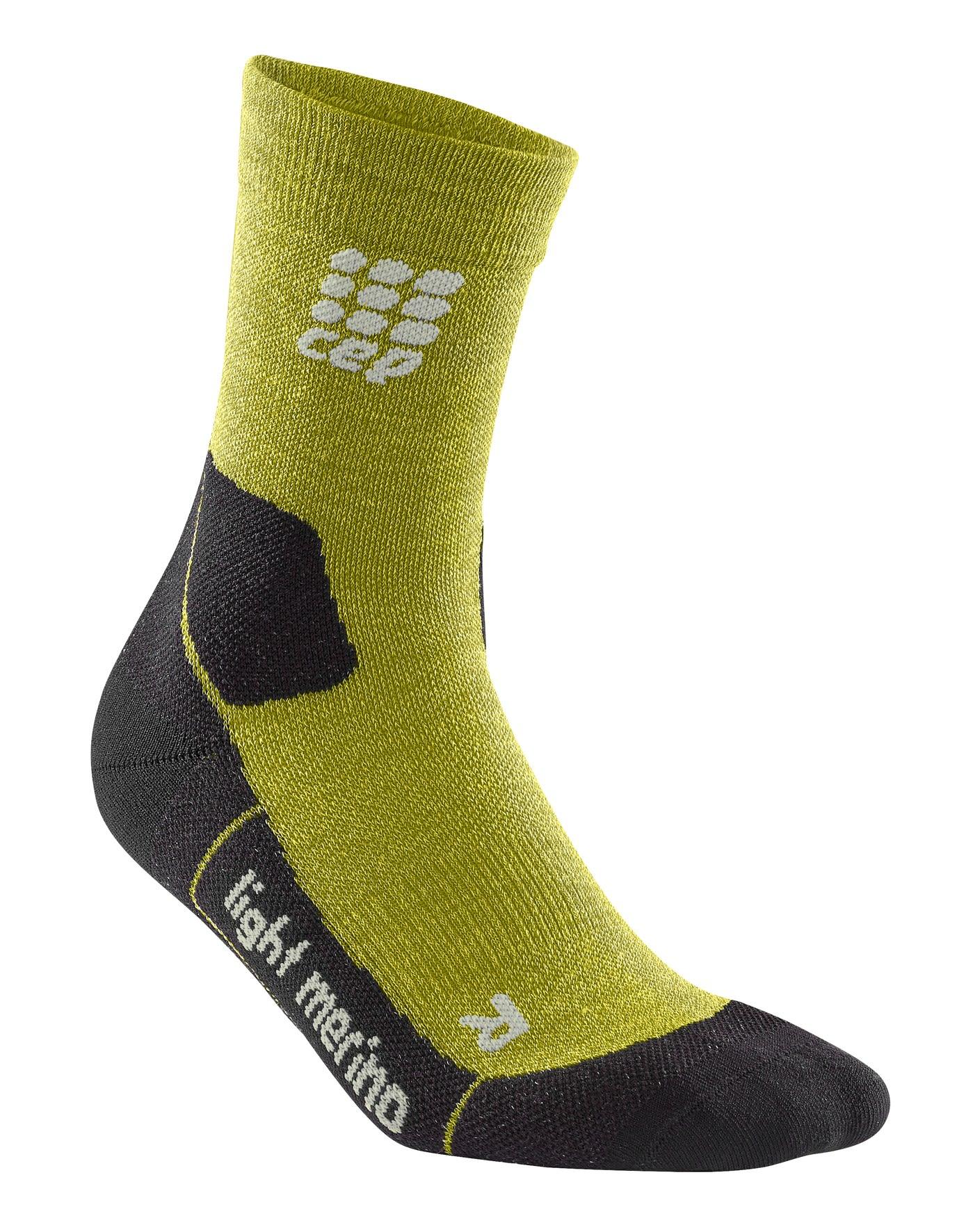 CEP Outdoor Light Merino Mid CUT Socks Grün, Male Merino Laufsocken, V