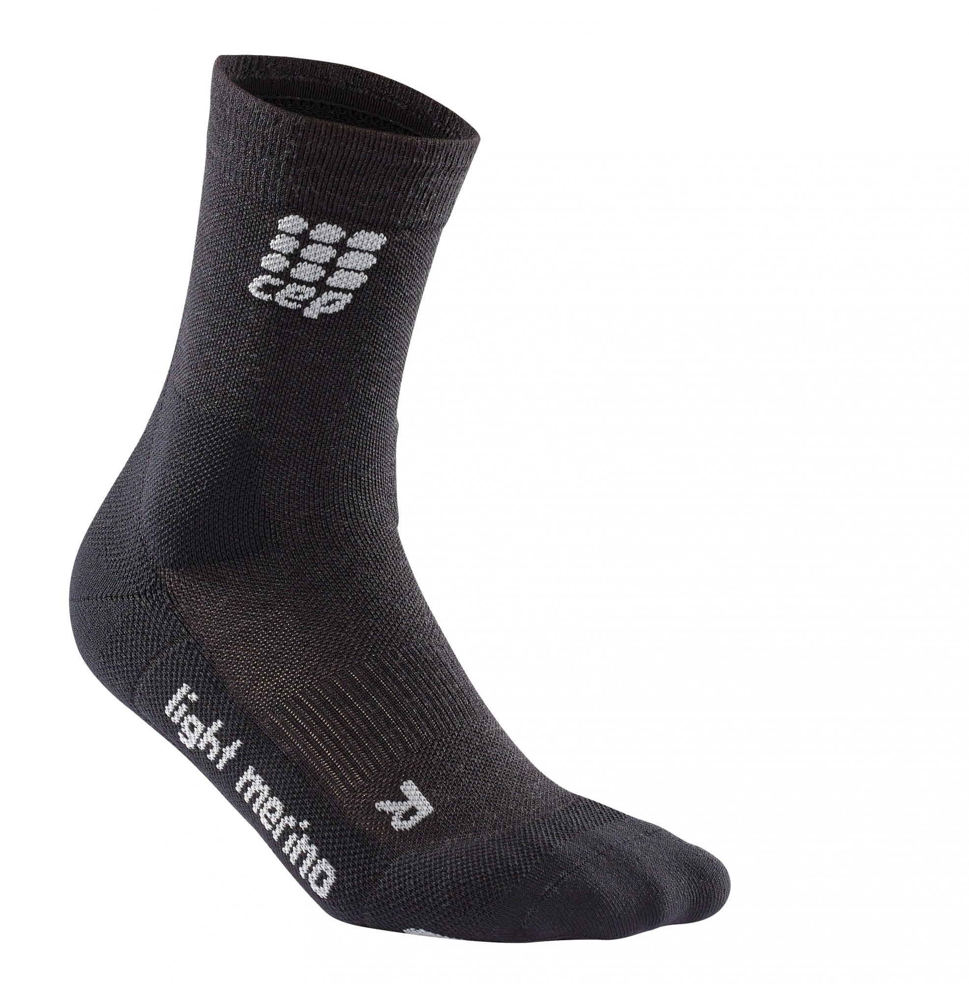 CEP Outdoor Light Merino Mid CUT Socks Braun, Male Merino Laufsocken, V