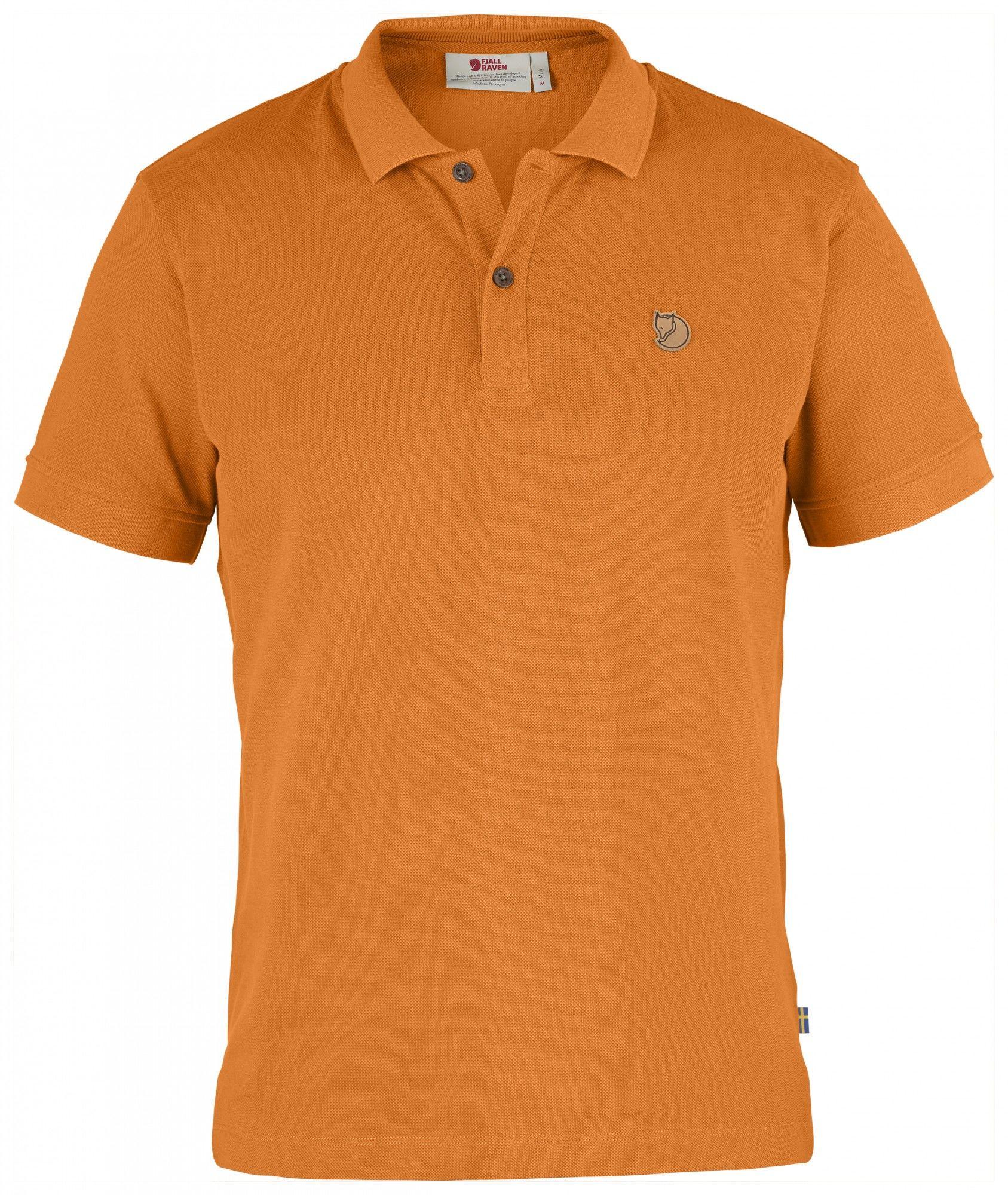 Fjällräven övik Polo Shirt Orange, Male Kurzarm-Polos, S