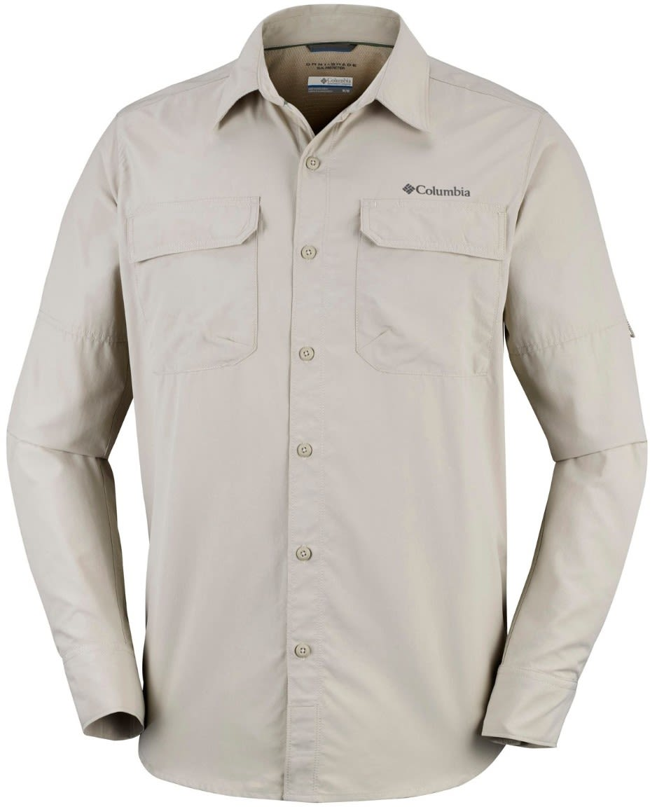 Columbia Silver Ridge II Long Sleeve Shirt Beige, Male Langarm-Shirt, XL