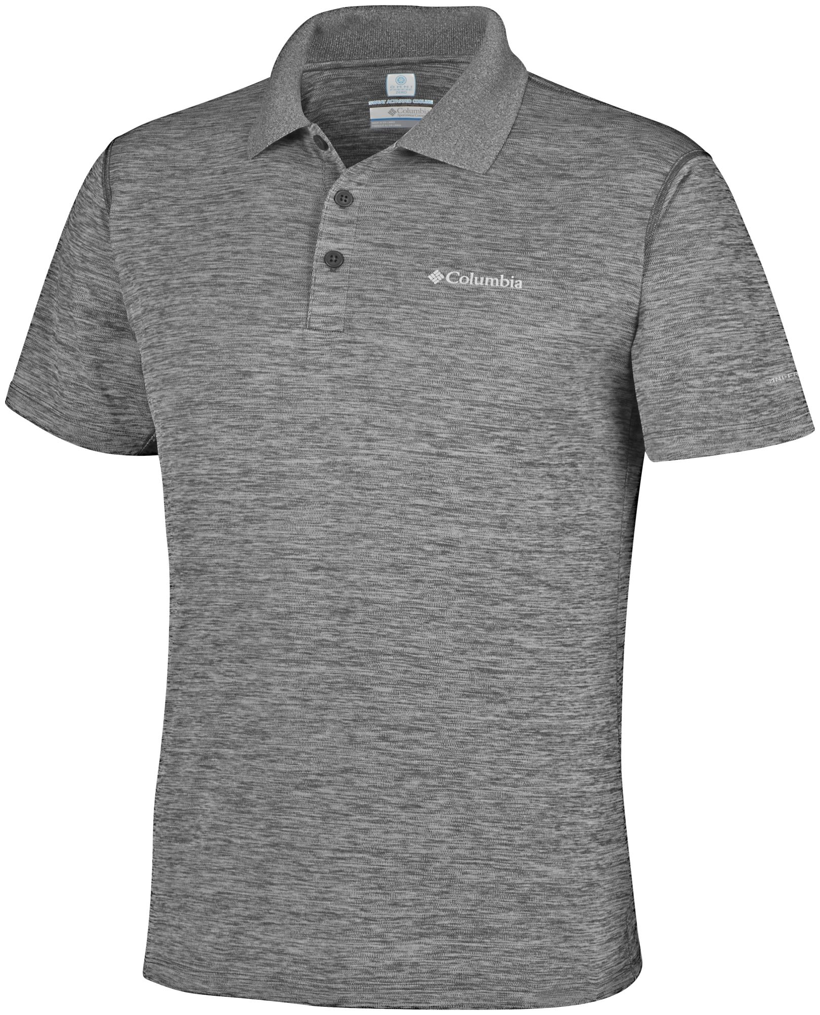 Columbia Zero Rules Polo Shirt Grau, Male Kurzarm-Polos, L