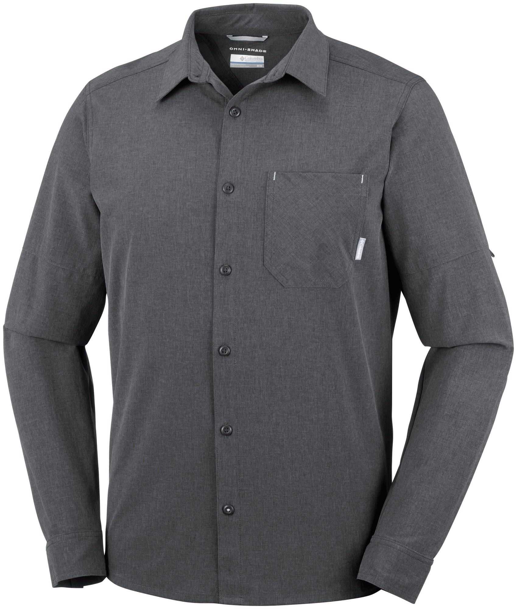 Columbia Triple Canyon Long Sleeve Shirt Grau, Male Langarm-Hemd, L