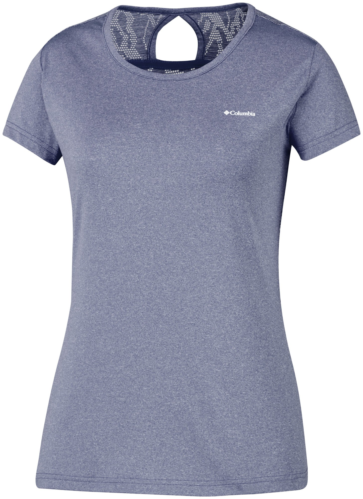 Columbia Peak TO Point Novelty Short Sleeve Shirt Blau, Female Kurzarm-Shirt, M