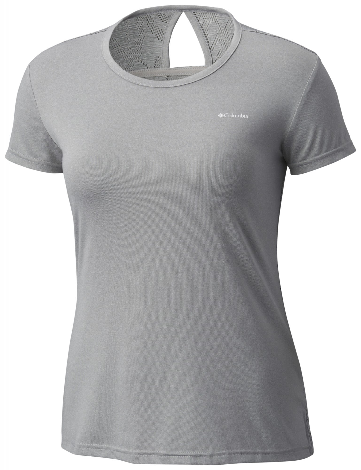 Columbia Peak TO Point Novelty Short Sleeve Shirt Grau, Female Kurzarm-Shirt, XS