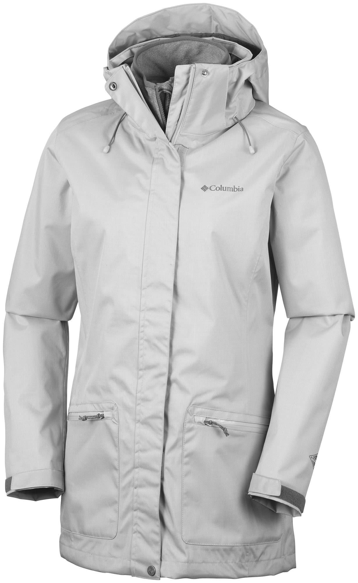 Columbia OUT IN THE Cold Interchange Jacket Grau, Female Doppeljacke-3-in-1-Jack