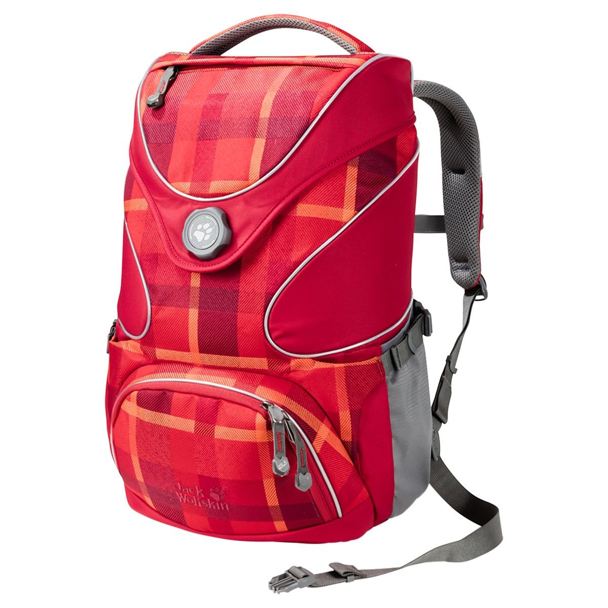 Jack Wolfskin Ramson Top 20 Pack Rot, 20l -Farbe Indian Red Woven Check, 20l