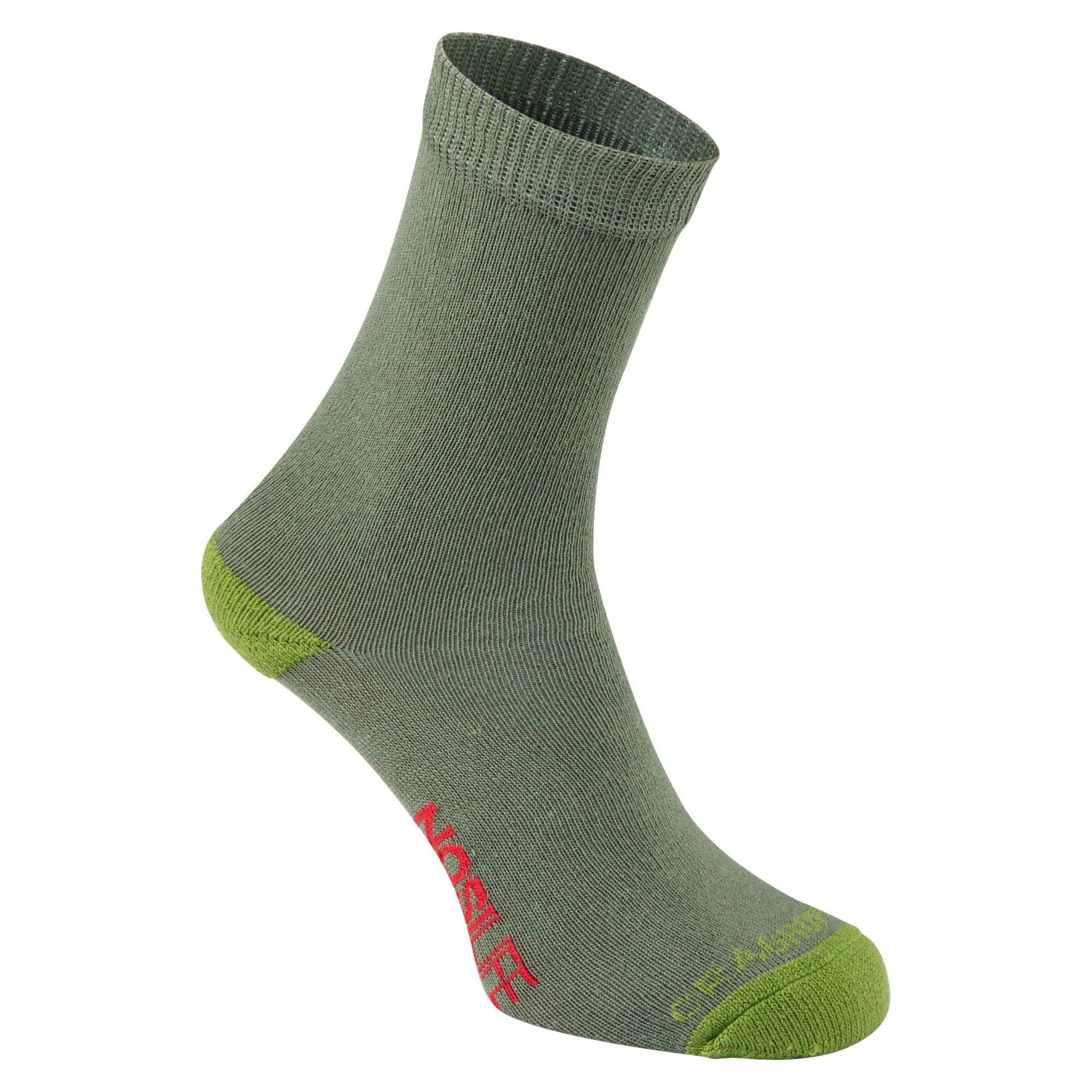 Craghoppers Kids Nosilife Travel Socken Grün, Daunen EU 19-23-UK 3-6 -Farbe Dar