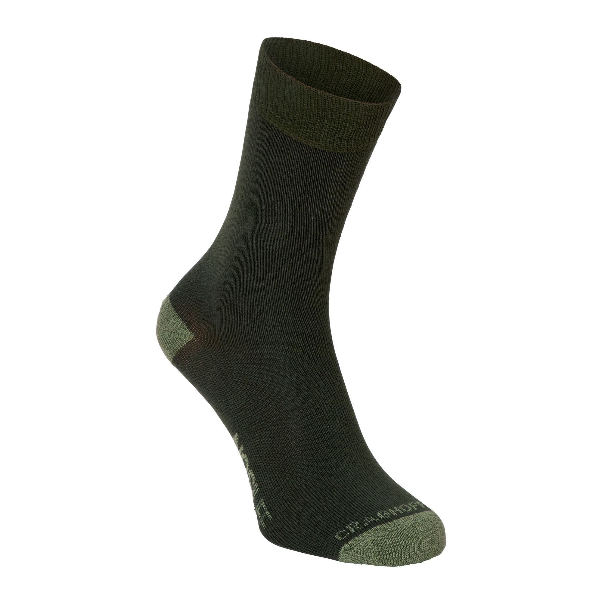 Craghoppers Single Nosilife Travel Socke Grün, Socken, EU 39-42 -UK 6-8
