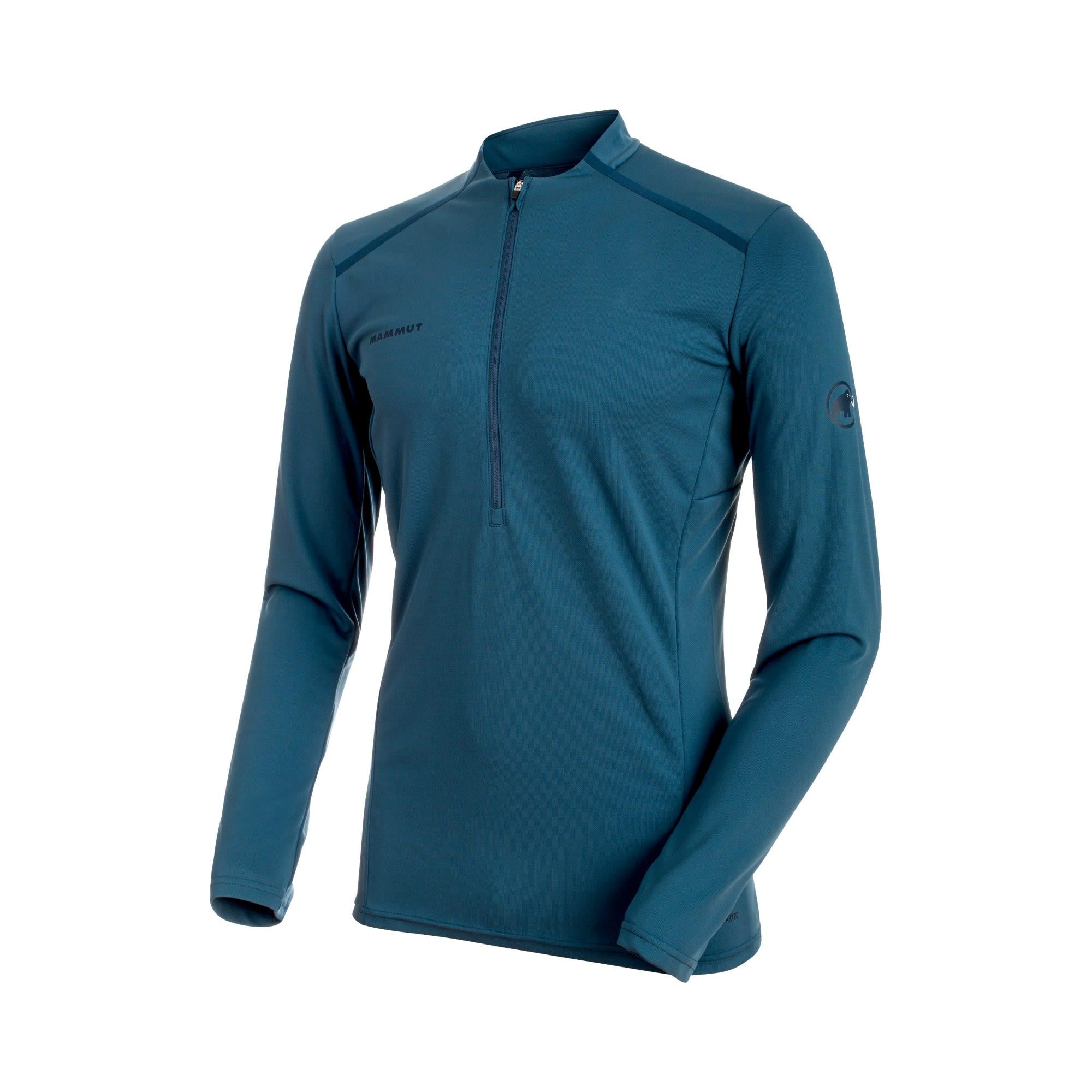 Mammut Atacazo Light Zip Pull Blau, Male Polartec® Langarm-Shirt, XL