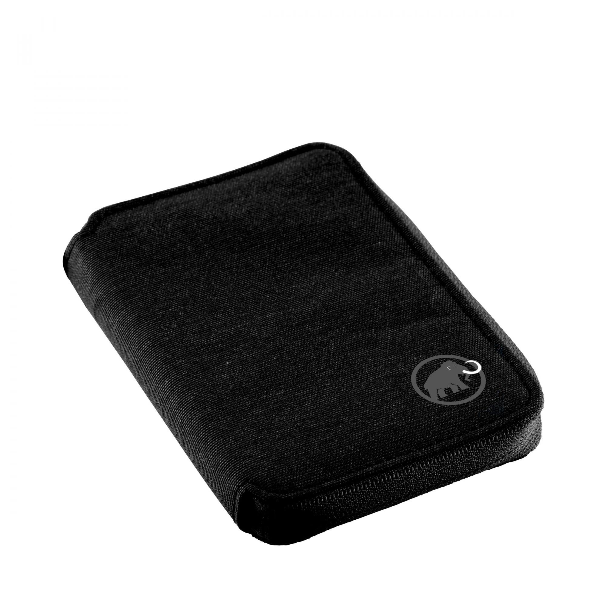 Mammut Zip Wallet Melange Schwarz, Geldbörsen, One Size