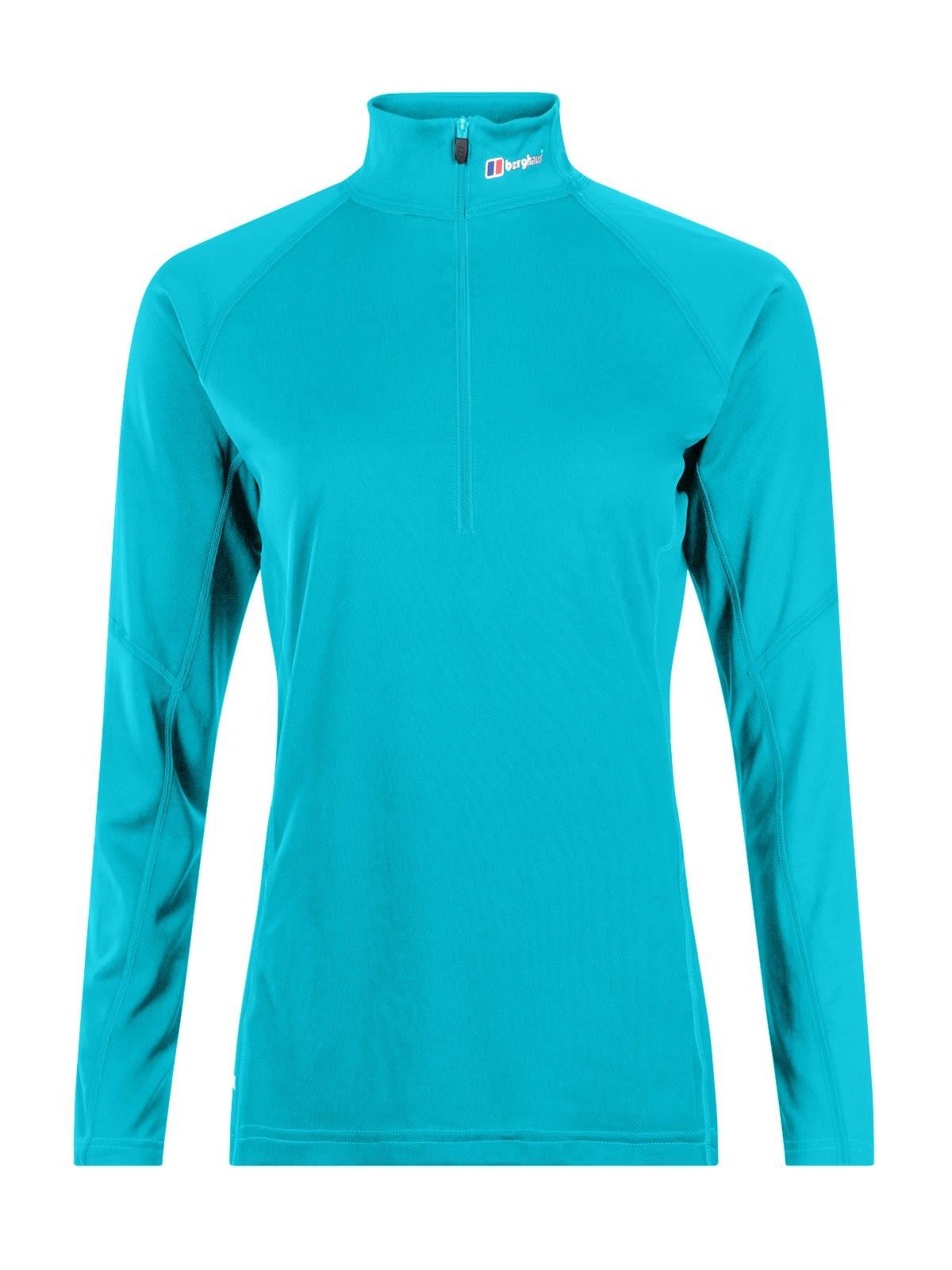 Berghaus W Tech Tee Long-Sleeve Zip Neck   Größe M - 12   Damen Langarm-Shirt