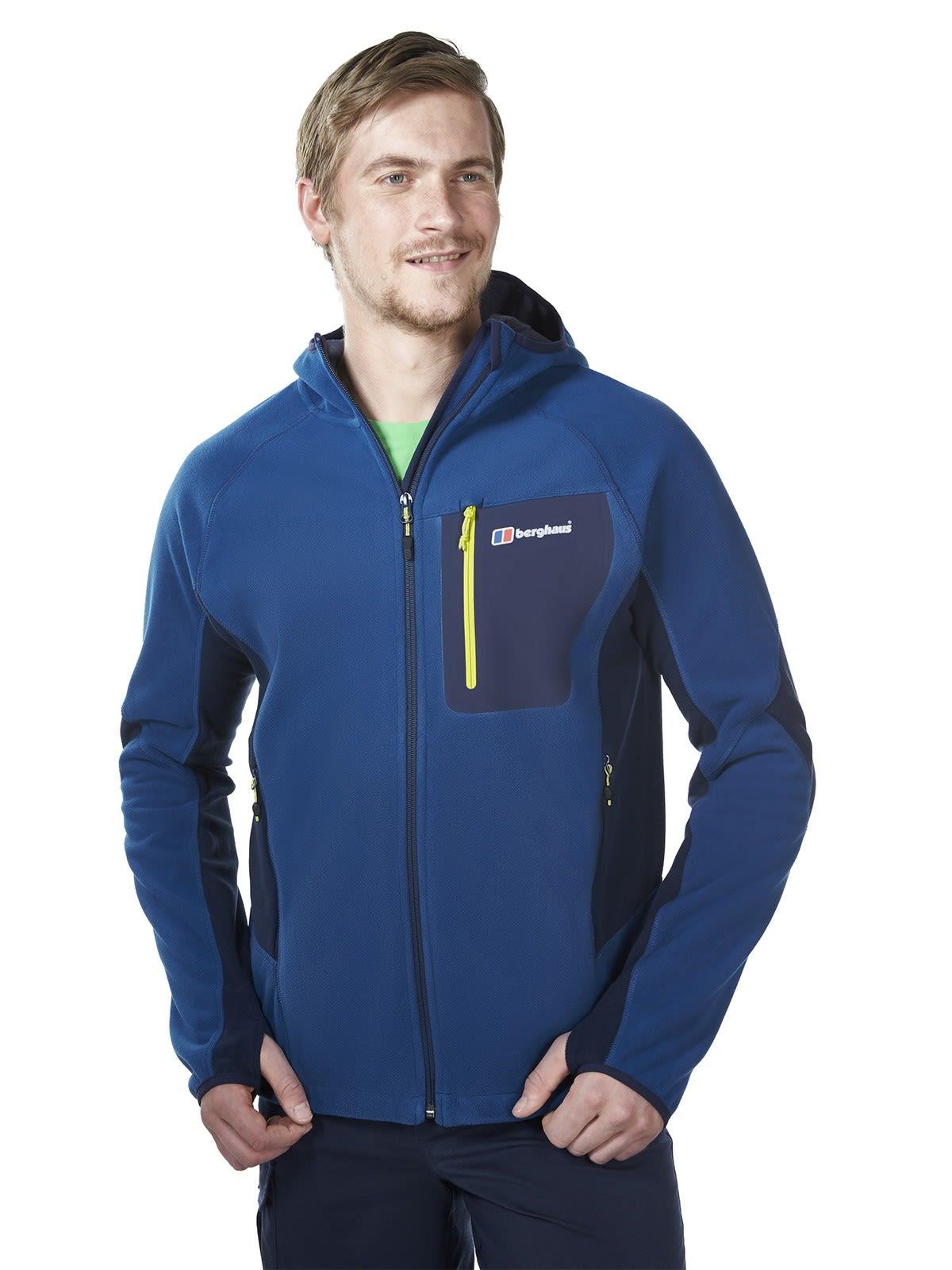 Berghaus BEN OShort-Sleeve Windproof Hooded Jacket Blau, Male Fleecejacke, L