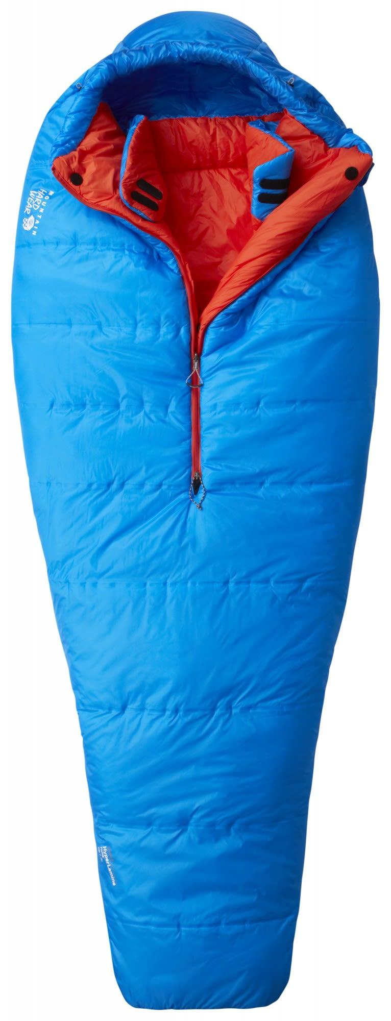 Mountain Hardwear Hyperlamina Flame Long Blau, Kunstfaserschlafsack, Long
