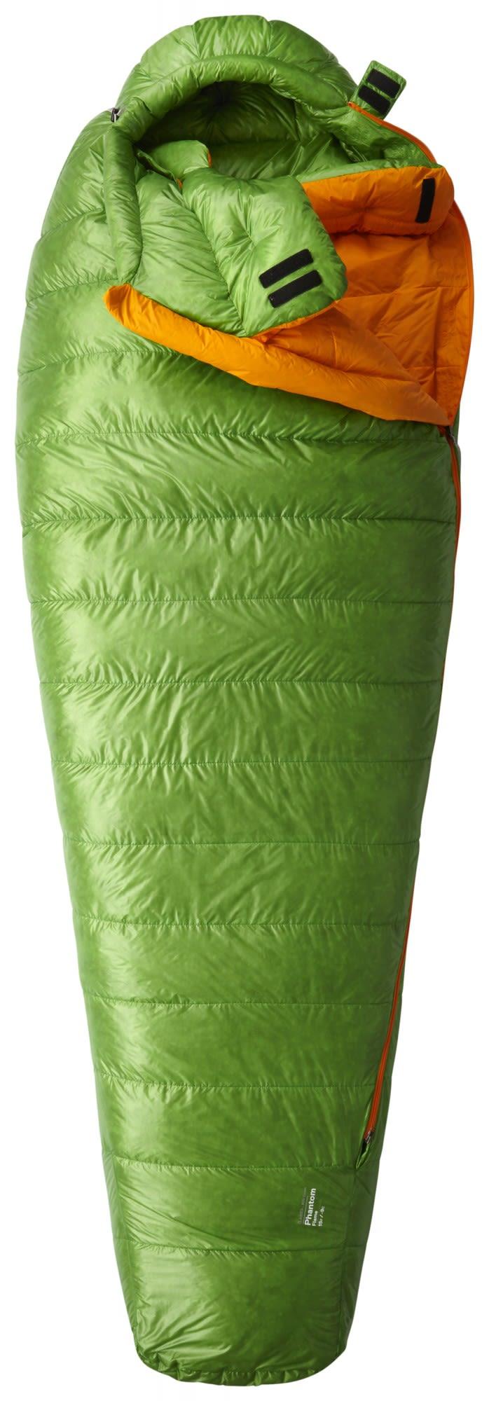 Mountain Hardwear Phantom Flame Long Grün, Daunen Kunstfaserschlafsack, 198 cm
