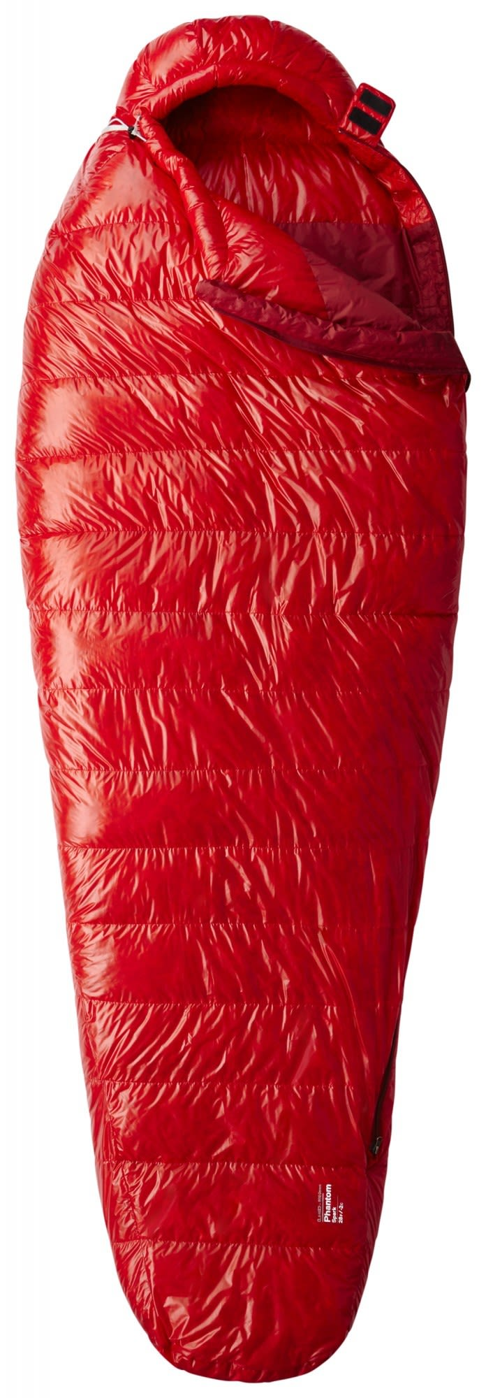Mountain Hardwear Phantom Spark Long Rot, Daunen Daunenschlafsack, 198 cm -RV li