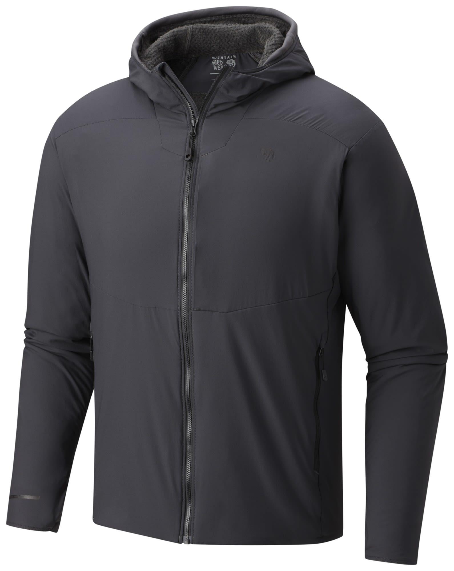 Mountain Hardwear Atherm Hooded Jacket Grau, Male Polartec® Freizeitjacke, S