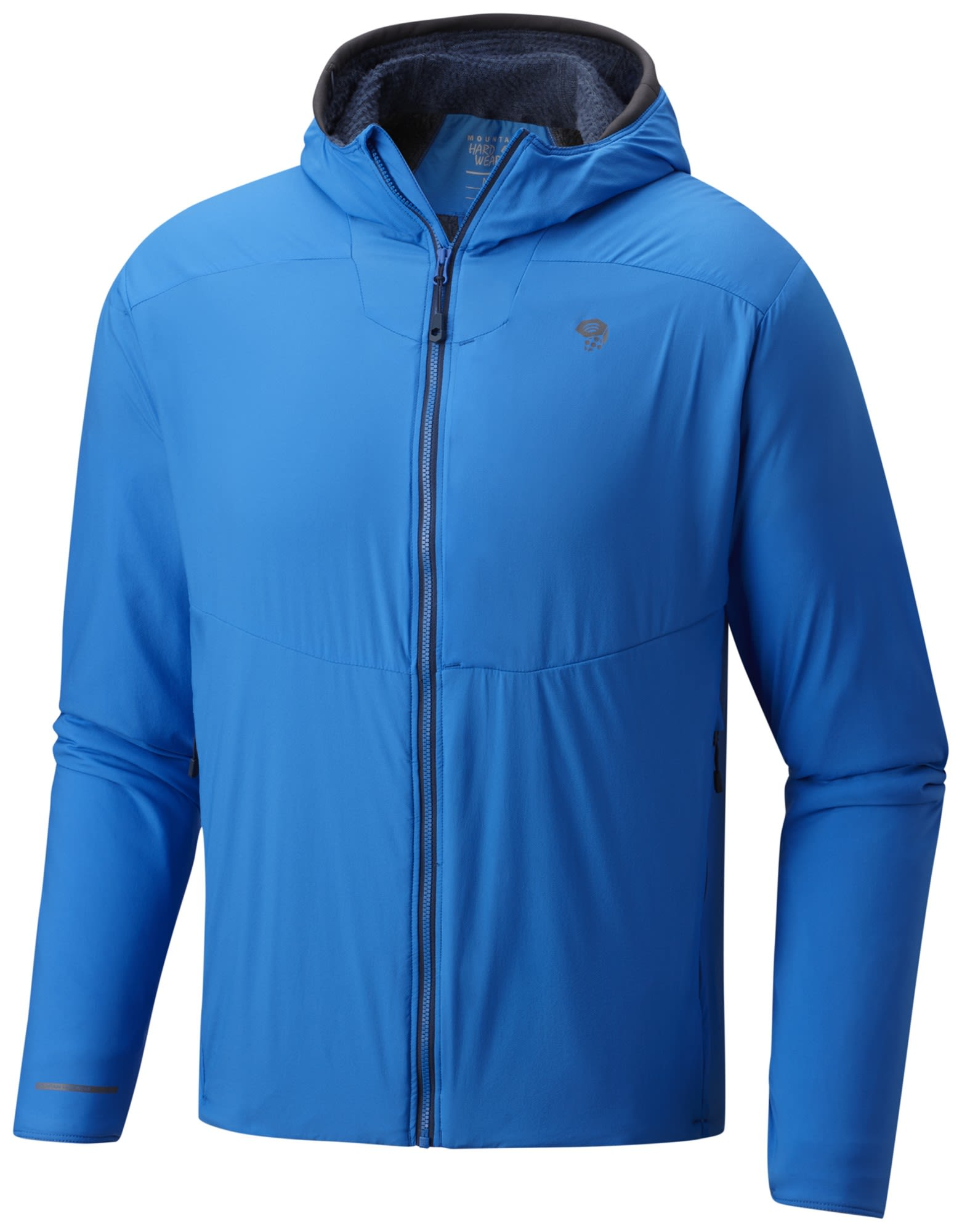 Mountain Hardwear Atherm Hooded Jacket Blau, Male Polartec® Freizeitjacke, XL
