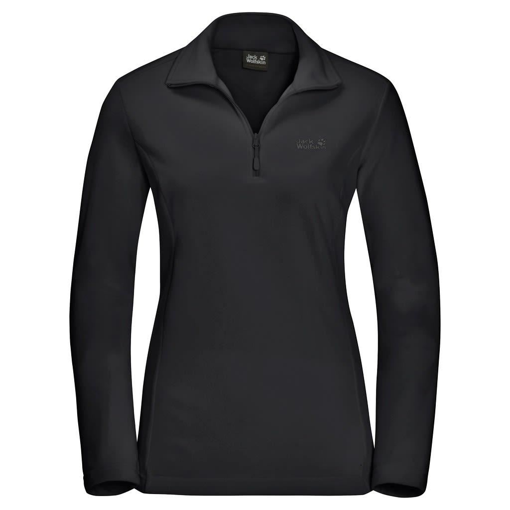 Jack Wolfskin Gecko Schwarz, Female Langarm-Shirt, M