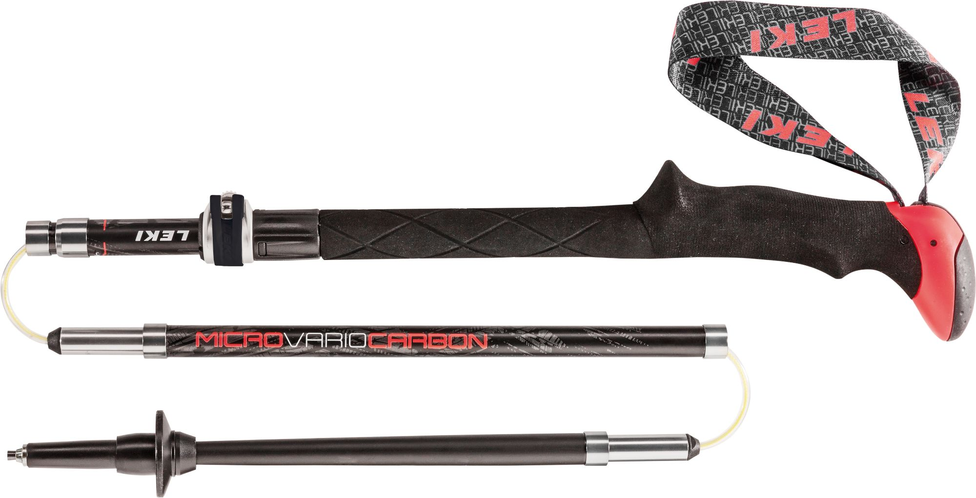 Leki Micro Vario Carbon Schwarz, Wander-& Trekkingstock, 110-130 cm