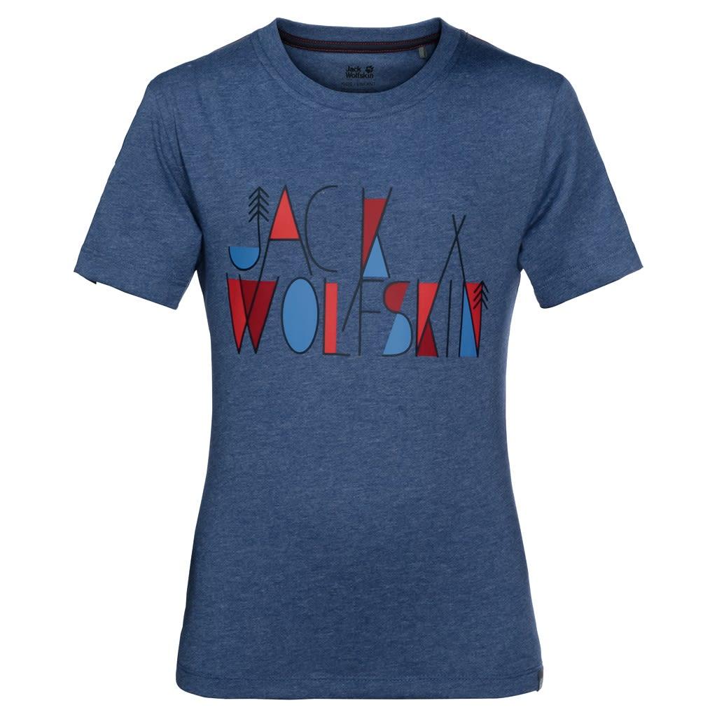 Jack Wolfskin Boys Brand T Blau, Male 116 -Farbe Ocean Wave, 116