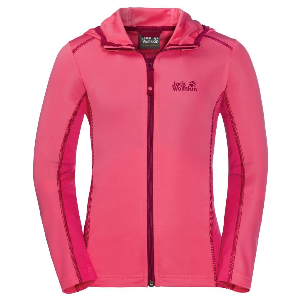 Jack Wolfskin Kids Shoreline Jacket Pink, 140 -Farbe Hot Pink, 140