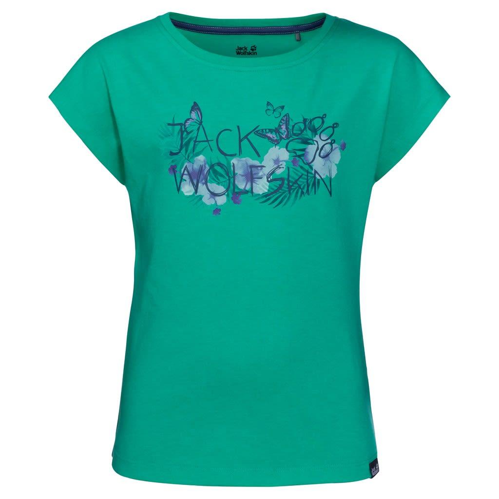 Jack Wolfskin Girls Brand T Grün, Female 116 -Farbe Deep Mint, 116