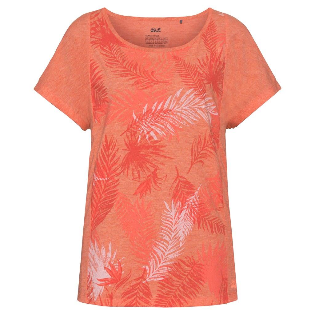 Jack Wolfskin Moro Palm T Orange, Female Kurzarm-Shirt, L