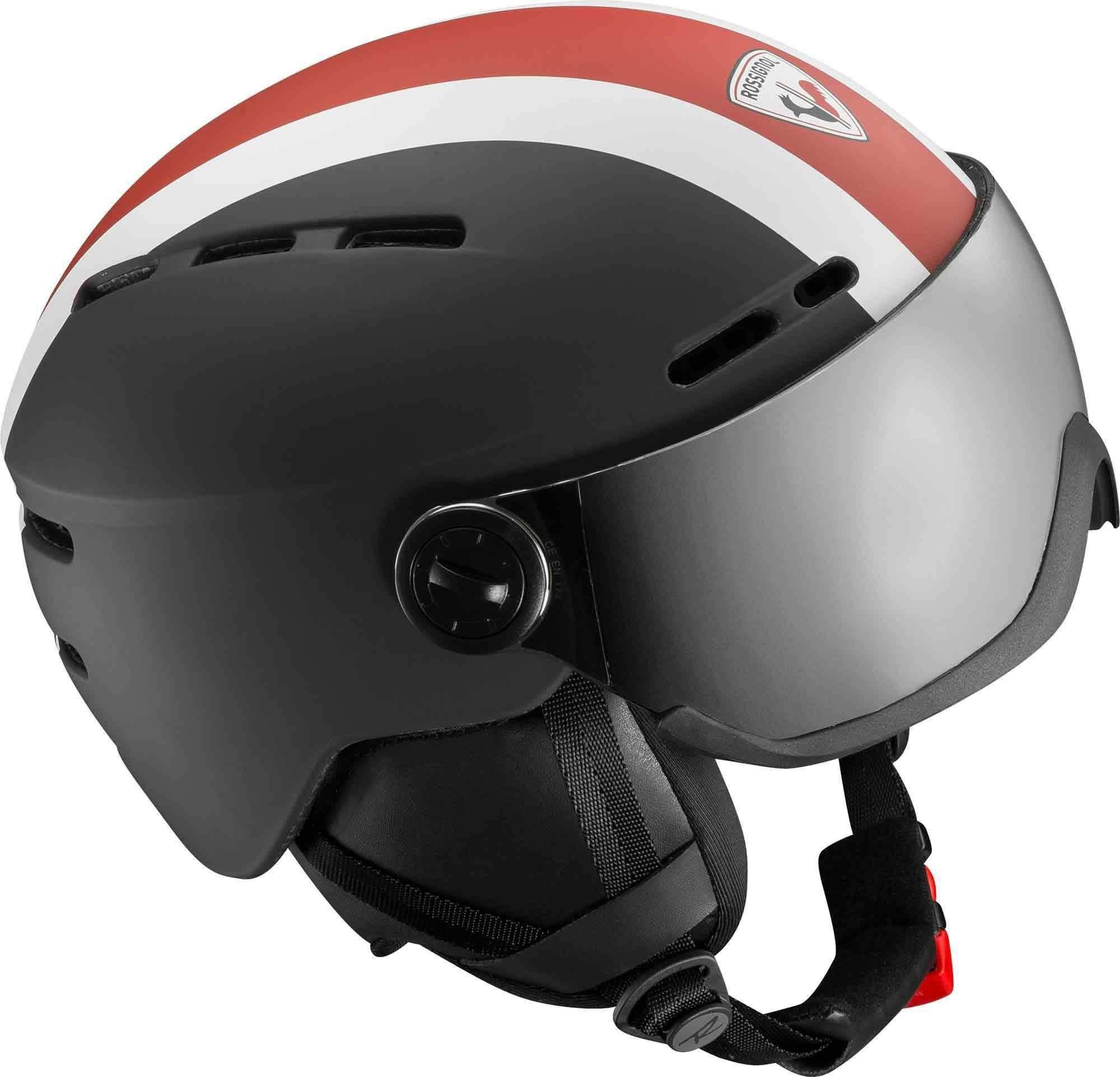 Rossignol Visor-Strato Rot, Male Ski-& Snowboardhelm, M/L