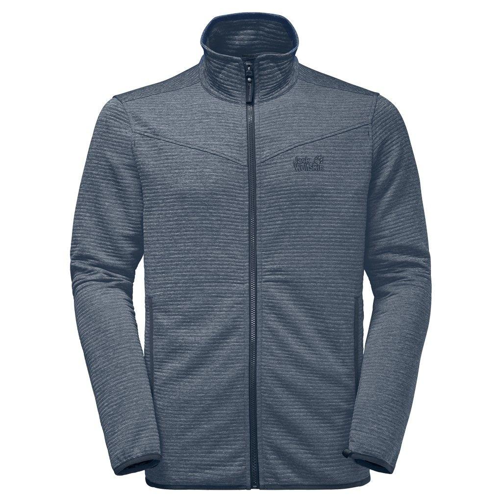 Jack Wolfskin Tongari Jacket Blau, Male Fleecejacke, XXL