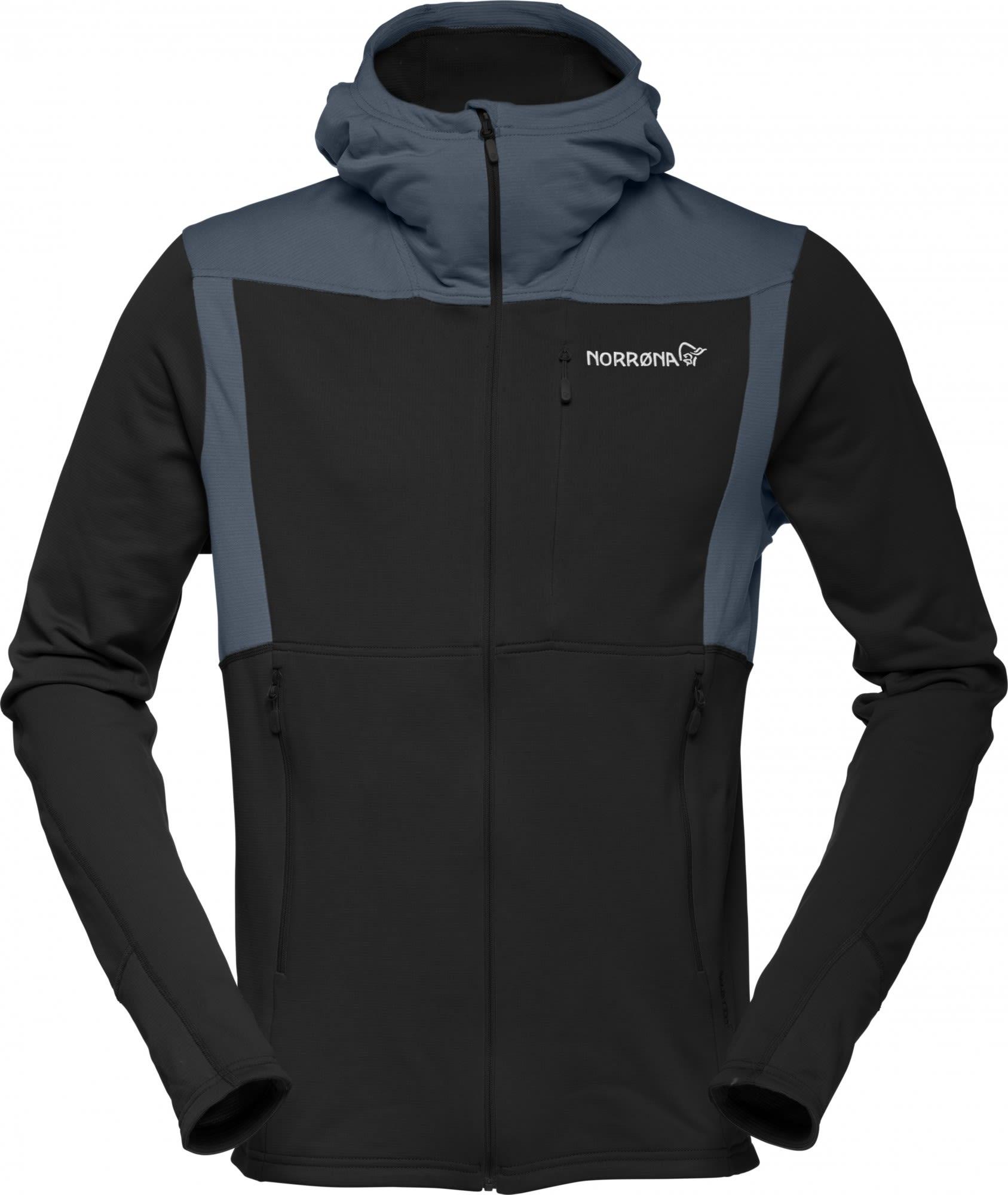 Norrona Falketind Warm1 Stretch Zip Hoodie Schwarz, Male Polartec® Fleecejacke,