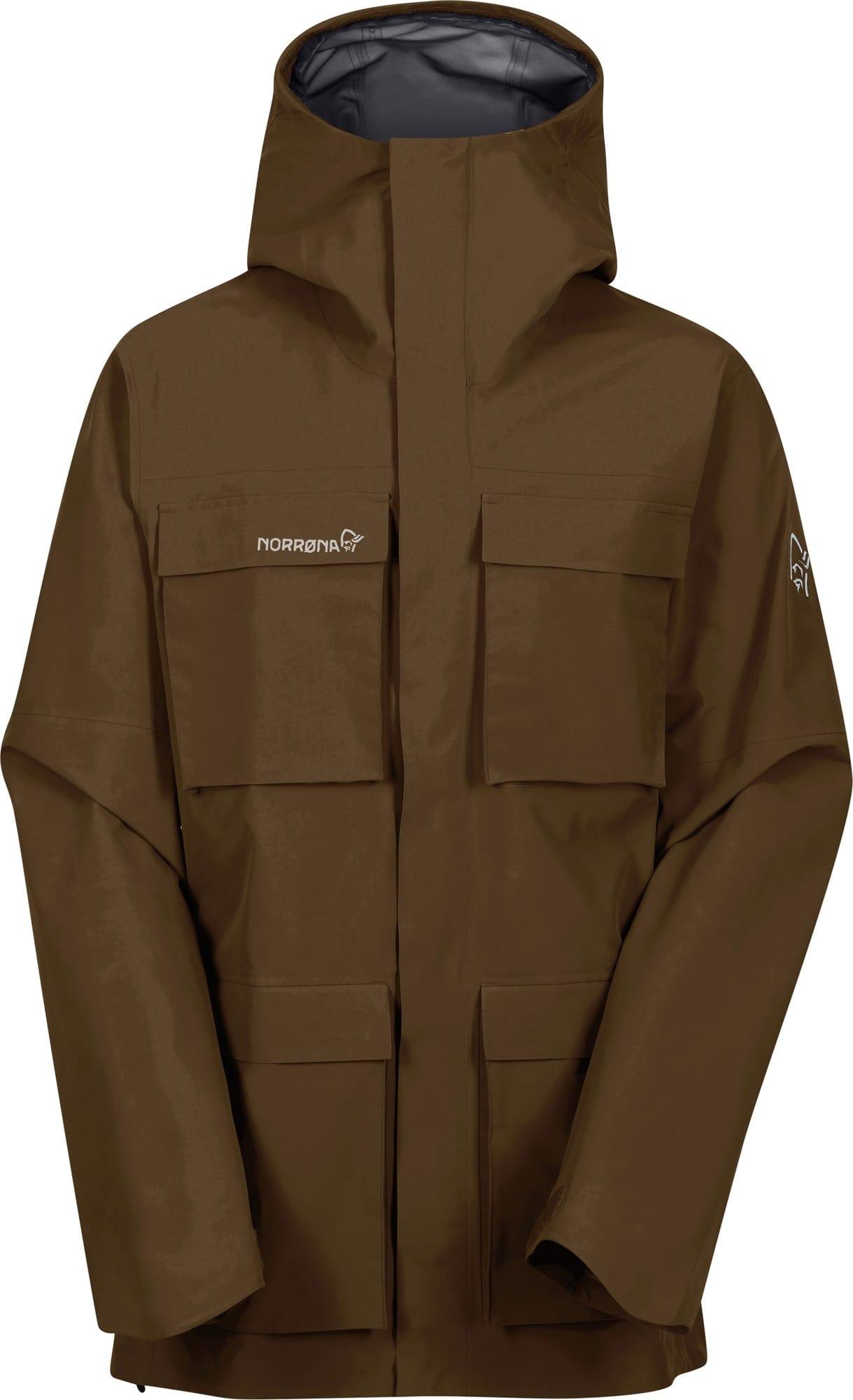 Norrona Svalbard Gore-Tex Jacket Braun, Male Gore-Tex® Freizeitjacke, XL