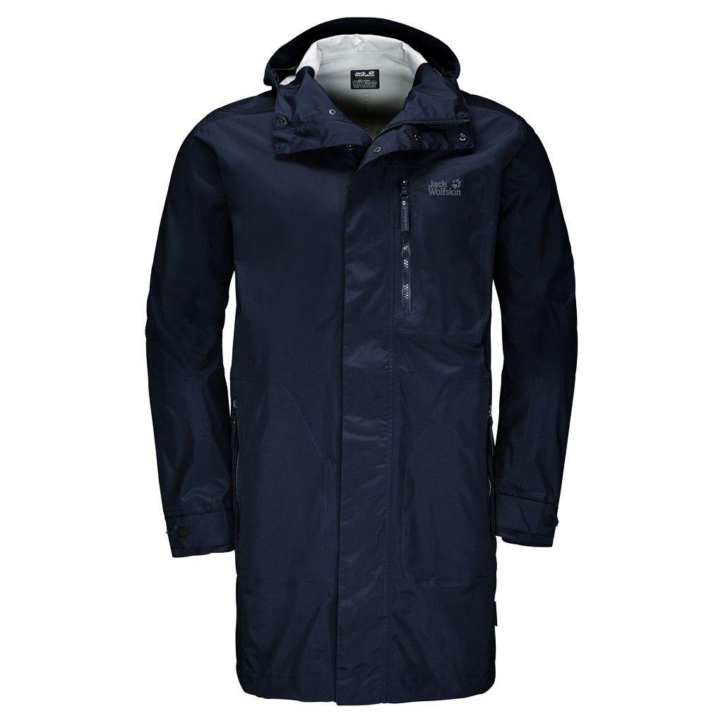 Jack Wolfskin Crosstown Raincoat Blau, Male Freizeitmantel, XXL