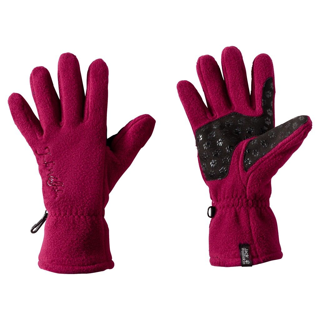 Jack Wolfskin Nanuk PAW Glove Rot, Female Accessoires, S