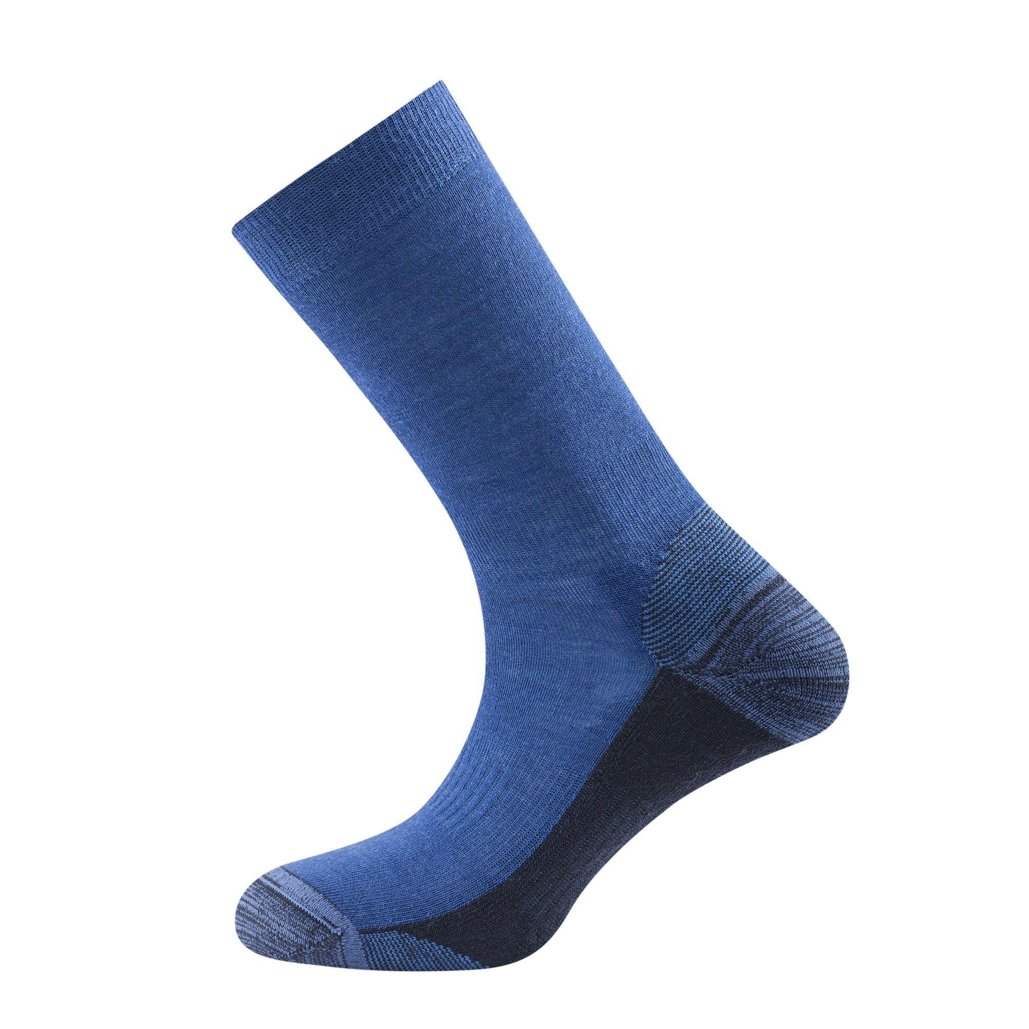 Devold Multi Medium Sock Blau, Merino Socken, 41-43