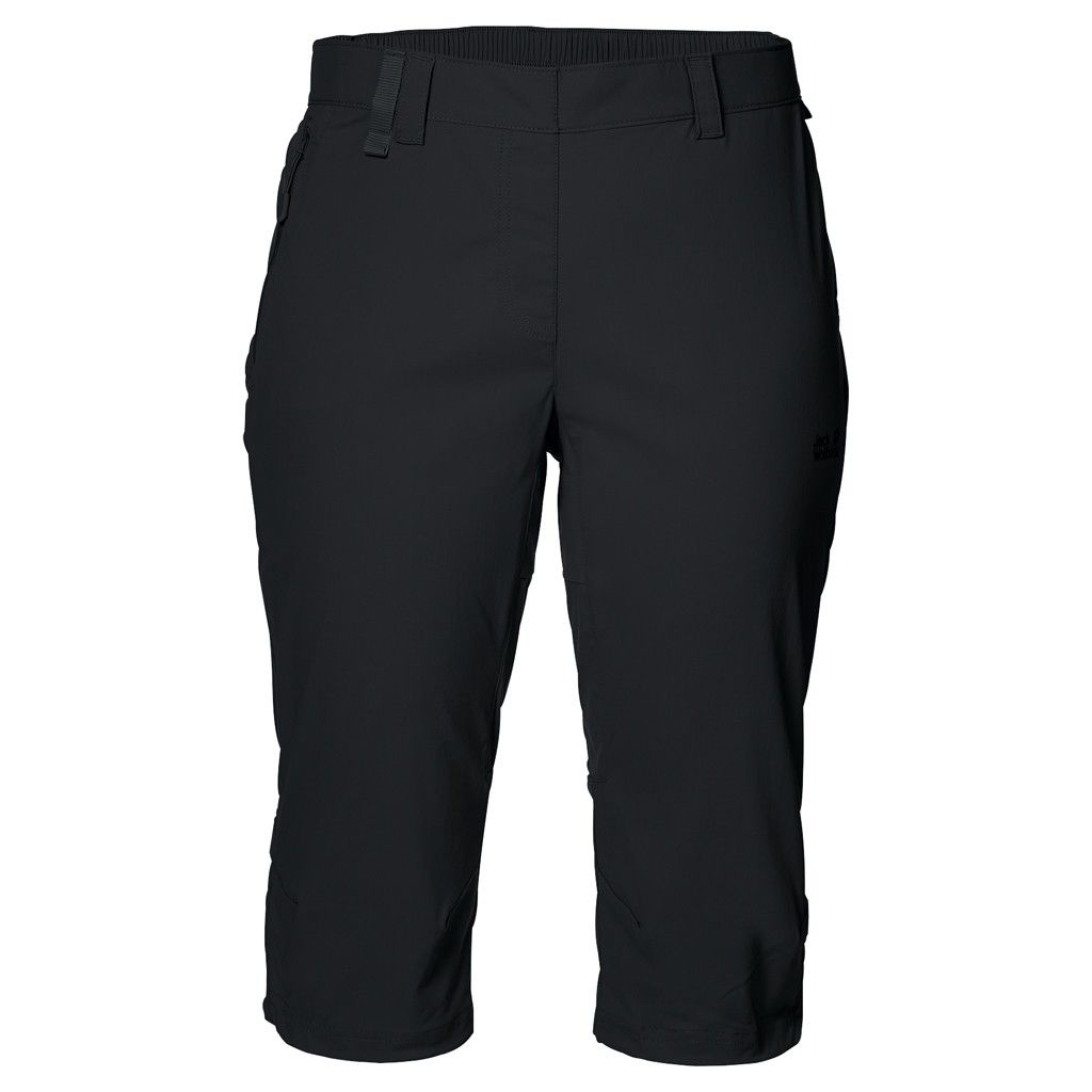 Jack Wolfskin Activate Light 3/4 Pants Schwarz, Female Hose, 36